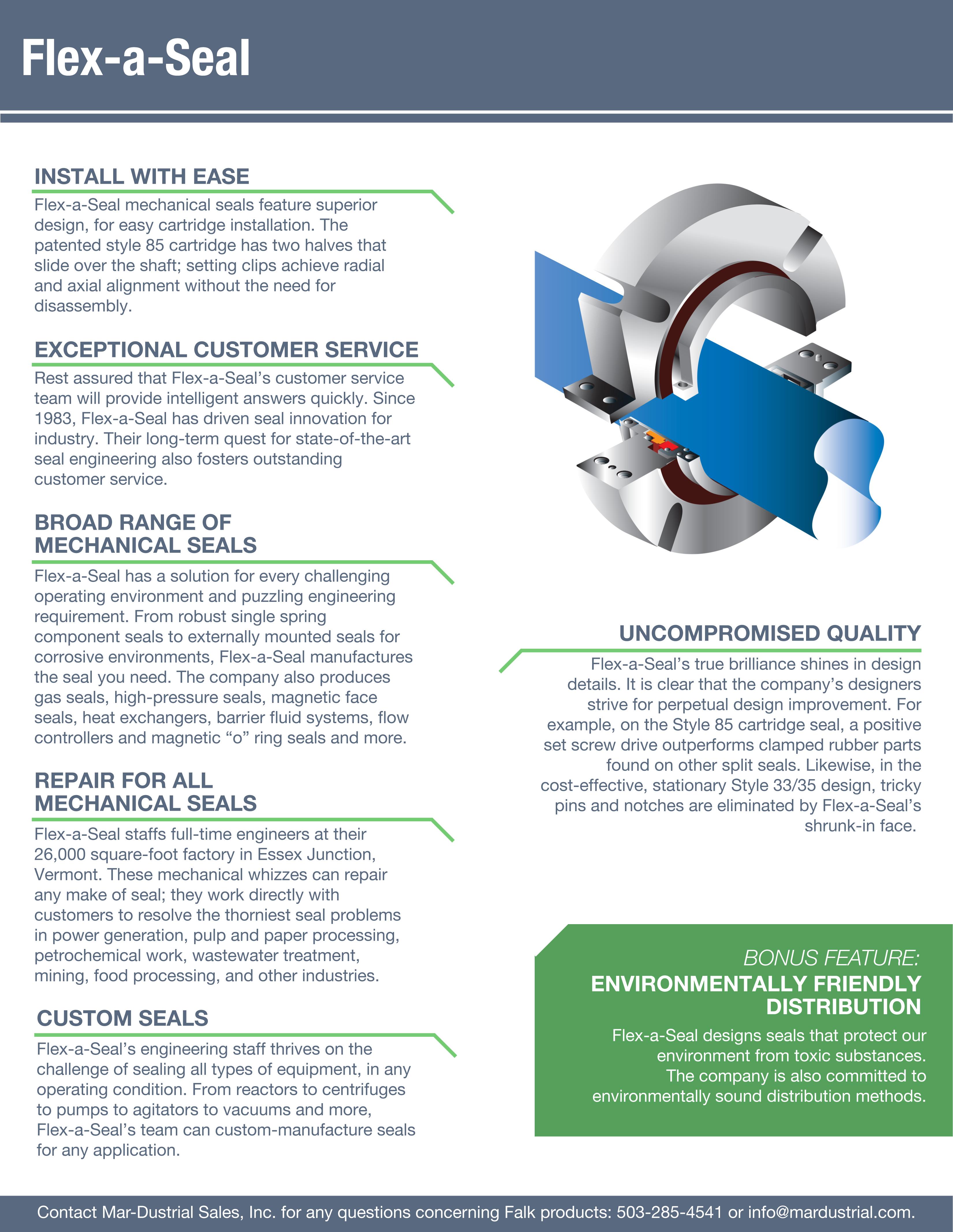 Flex A Seal Mechanical Seals